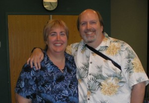 Brother Chris and his wife Donna (yes, Donna Casey)