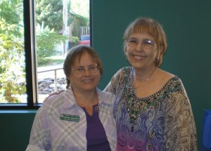Me (r.) and Normalene, the Adult Serviced Librarian at Prescott Public Library
