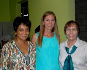 Shona Patel (l), Anne Wilson (m), Yours Truly (r)
