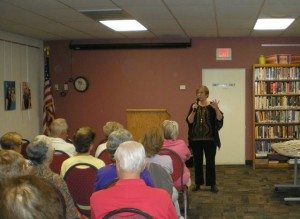 Me and the lovely crowd at the Ajo Library