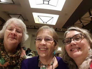 JoAnne Gaiser, Yours Truly, Kim Garza at the Poisoned Pen Breakfast.