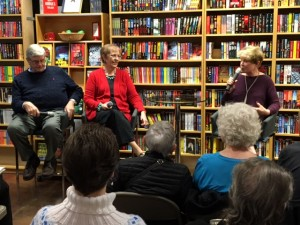 The great book launch with Fred Ramsay (l) and Barbara Peters (r)